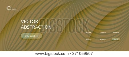 Camo Landing Page Design. 3d Fluid Shapes Poster. Vector Business Movement. Camouflage Dynamic Magaz