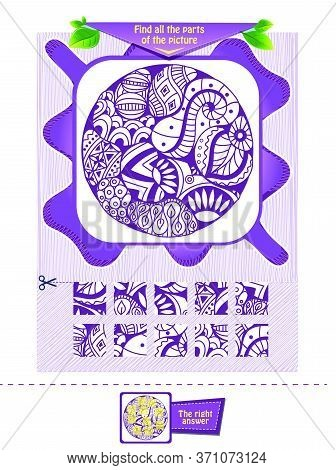 Findthe Parts Of The Zentangle