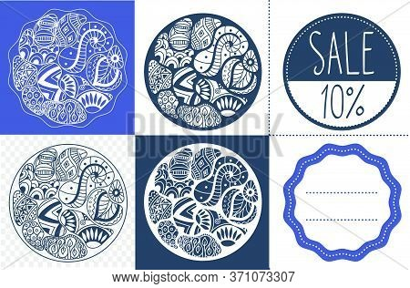 Set Of Abstract Sales  Labels