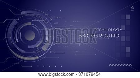 Abstract Circuit Board Technology. Technological Design. High Tech Digital Technology Concept.vector
