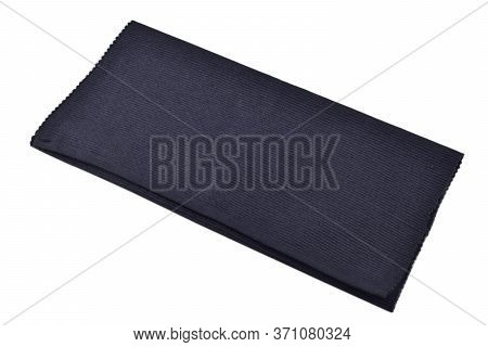 Dark Blue Cotton Placemat Isolated On White Background, Dining Table Mat