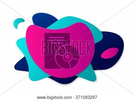 Color Cd Or Dvd Disk Icon Isolated On White Background. Compact Disc Sign. Abstract Banner With Liqu