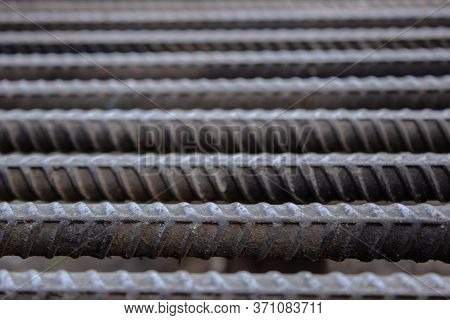 Rebar, Known When Massed As Reinforcing Steel Or Reinforcement Steel. Steel Reinforcement Bars Or Ro