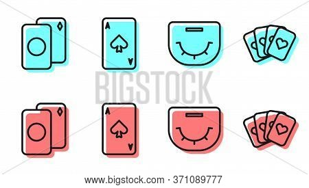 Set Line Poker Table, Deck Of Playing Cards, Playing Card With Spades And Deck Of Playing Cards Icon