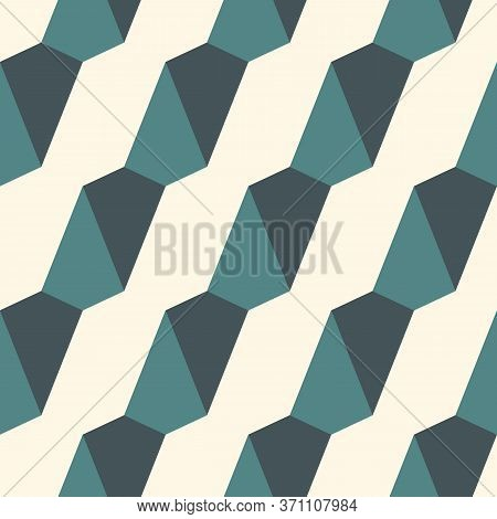 Seamless Pattern With Simple Ornament. Mini Kites Motif. Repeated Triangles Background. Minimalist G