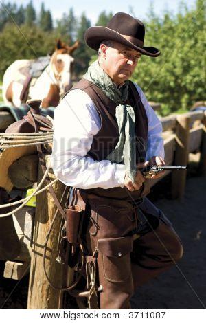 Cowboy And Gun