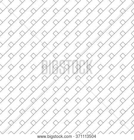 Vector Seamless Pattern. Infinitely Repeating Stylish Elegant Texture Consisting Of Diagonal Thin Li