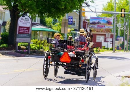 Amish Wagon With Children