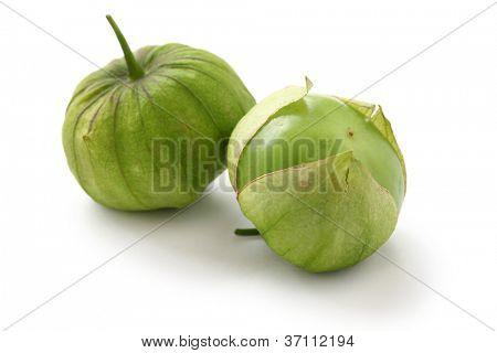 green tomatillo fruits, salsa verde ingredient poster