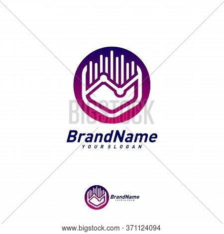 Hexagon Business Stats Logo Design Template Vector. Creative Stats Logo Concepts. Icon Symbol