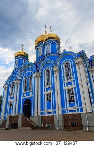 Cathedral Of Vladimir Icon Of Mother Of God In Nativity Of Our Lady Monastery In Zadonsk, Russia