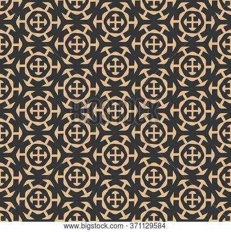 Repeat Classic Graphic Artdeco Texture Texture. Seamless Islamic Vector Gatsby Tile Pattern. Repetit