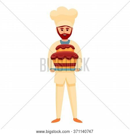 Confectioner Baker Cake Icon. Cartoon Of Confectioner Baker Cake Vector Icon For Web Design Isolated