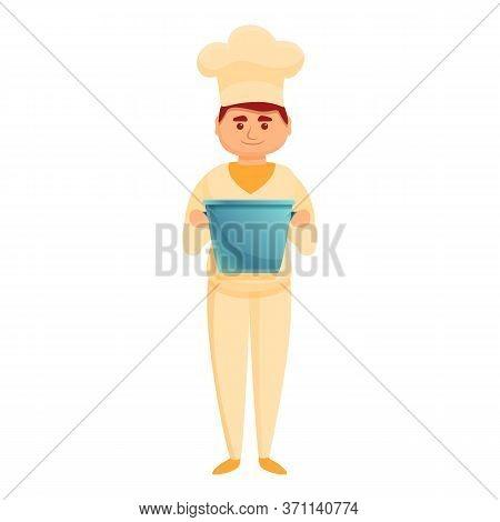 Confectioner Cream Bucket Icon. Cartoon Of Confectioner Cream Bucket Vector Icon For Web Design Isol