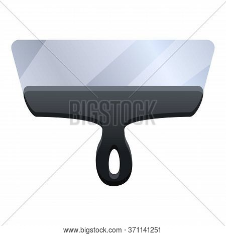 Scraper Putty Knife Icon. Cartoon Of Scraper Putty Knife Vector Icon For Web Design Isolated On Whit