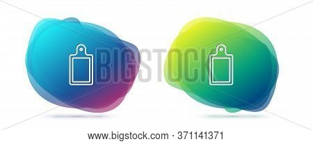 Set Line Cutting Board Icon Isolated On White Background. Chopping Board Symbol. Abstract Banner Wit
