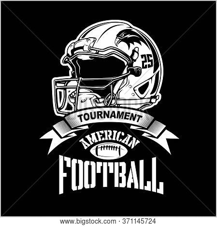 American Football Helmet Super Bowl Sport Theme Vector Illustration.