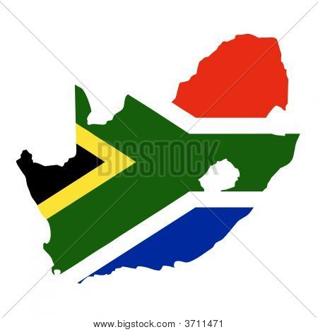 South Africa With Flag