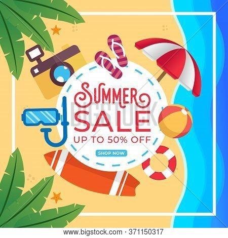 Summer Sale. Summer Sale vector. Summer Sale background. Summer Sale illustration. Summer Sale design. Summer Sale template. Trendy Summer Sale vector background. Summer Sale vector illustration for banner, poster, invitation, design template.