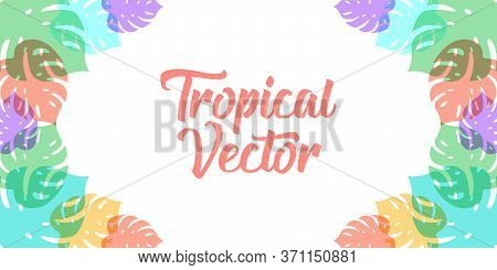 Tropical. Tropical vector. Tropical background. Tropical beach. Tropical pattern. Tropical Summer vector illustration. Tropical vector background. Trendy Tropical Summer vector illustration for banner, poster, invitation, party design template.