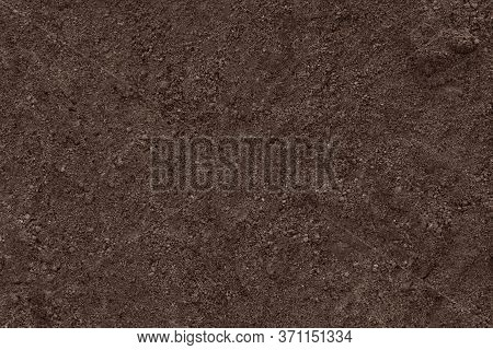 Soil Clean Ground Texture Background. Dirt Black Earth.