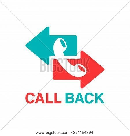 Call Back Icon  - Phone Handset Pictogram With Right And Left Direction Arrow Which Symbolizes Callb