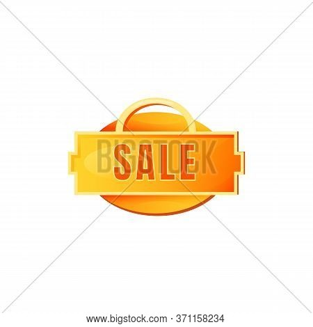 Sale Yellow Vector Board Sign Illustration. Clearance Shopping Promo Signboard Design With Typograph