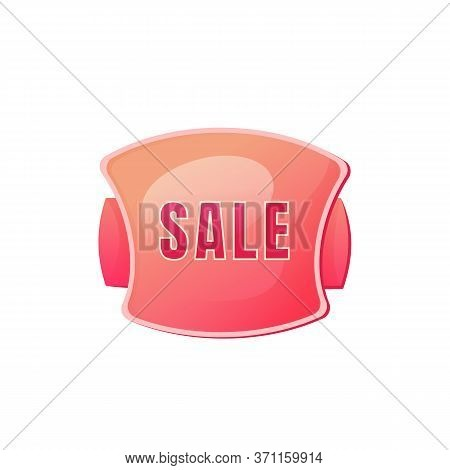 Sale Pink Vector Board Sign Illustration. Shopping Event Promotional Signboard Design With Typograph