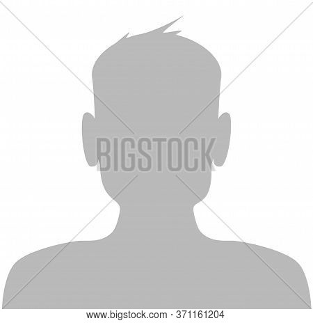 Male Default Placeholder Avatar Profile Gray Picture Isolated On White Background . Vector Illustrat