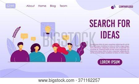 Search For Idea Success Advancement Landing Page
