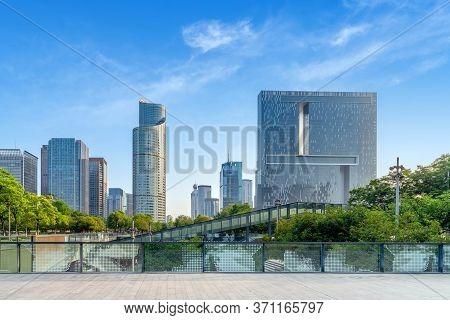 Modern Skyscrapers And Skyline In Hangzhou, China