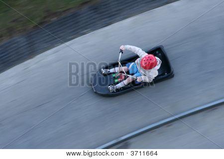 Luge Ride Downhill Thrills
