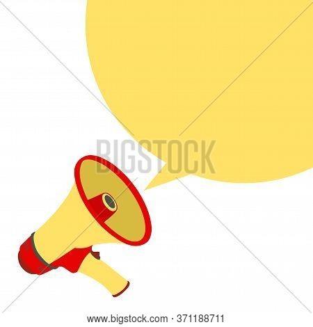 Vector Icon Loudspeaker, Design Illustration Loudspeaker. Flat Loudspeaker. Design Loudspeaker. Mega