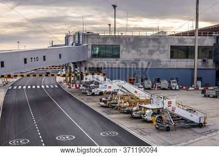 Madrid, Spain - January 30, 2019: Madrid Barajas Airport In Barajas District Of Madrid Capital City