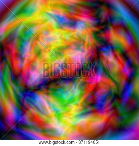 Glitch. Abstract Background. Glow Or Space, Alien Planet Or Texture. Vector Illustration