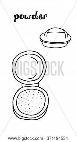 Face Powder Icon Line Element. Vector Illustration Of Face Powder Icon Line Isolated On Clean Backgr