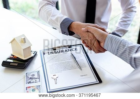 Home insurance agents offer terms and conditions to clients and get approval, home purchase and insu