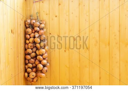 Onion Prepared To Keep Them Over Winter, Preparing Onions To Storage During Winter, Freshly Picked O