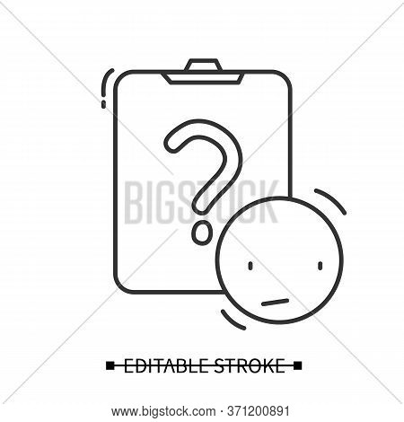 Consumer Survey Icon.clipboard And Question Mark With Puzzled Pictogram. Marketing Research, Custome