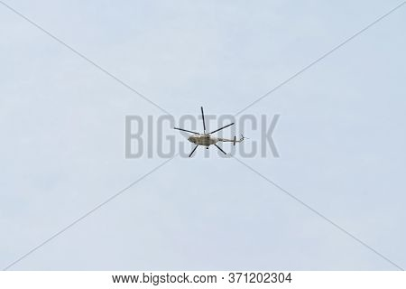 High-flying Helicopter Mi-8 (nato Reporting Name: Hip) Is A Medium Twin-turbine Helicopter, Original