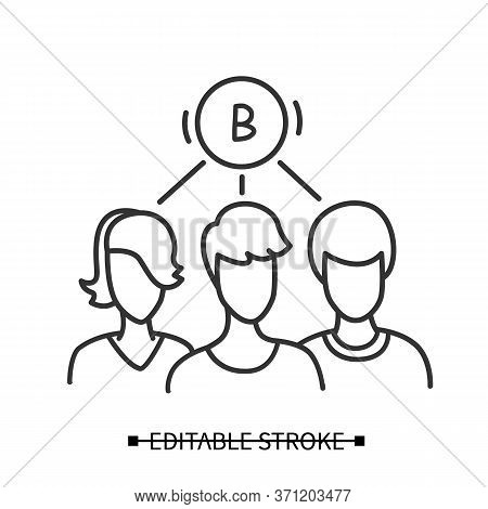 Group Demand Icon. Customer Avatars With Common Preference Pictogram. Consumer Feedback Collection A
