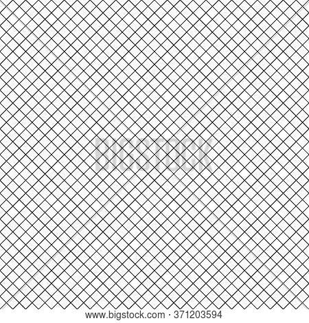 Seamless Surface Pattern With Mini Diamond Ornament. Black Diagonal Stripes Grill On White Backgroun