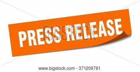 Press Release Sticker. Press Release Square Sign. Press Release. Peeler