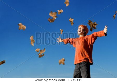 Happy Autumn Or Fall Child