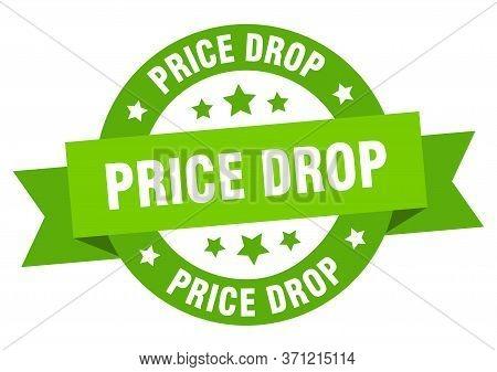 Price Drop Ribbon. Price Drop Round Green Sign. Price Drop