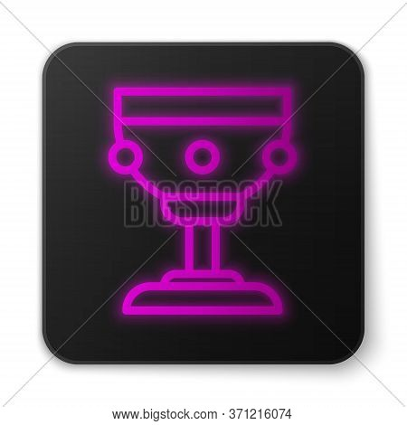 Glowing Neon Line Christian Chalice Icon Isolated On White Background. Christianity Icon. Happy East