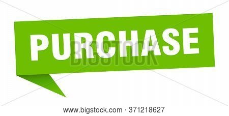 Purchase Speech Bubble. Purchase Ribbon Sign. Purchase Banner