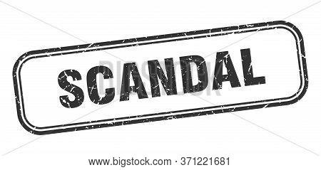 Scandal Stamp. Scandal Square Grunge Black Sign