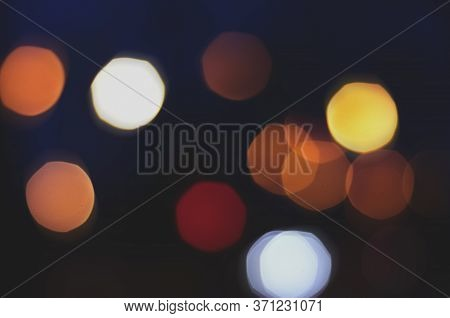 Bokeh Lights On Road In The City, Night Lights In City, Street Lights Bokeh Background, Blur Of Nigh