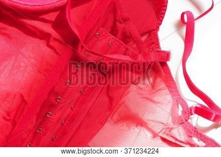 Women Underwear, Red Corsage Or Corset, Erotic Lingerie